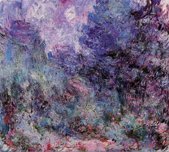 The House Seen from the Rose Garden, 1922-24, Claude Monet