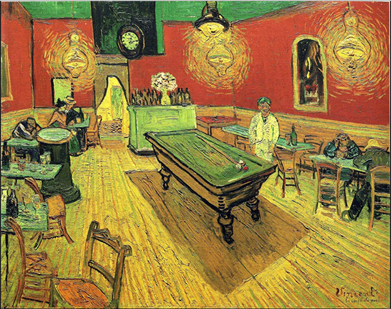 The Night Cafe, 1888, Vincent van Gogh