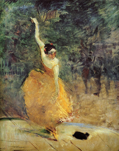 The Spanish Dancer, 1888, Henri de Toulouse-Lautrec