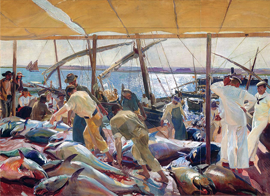 The Tunny Catch (PD US) Sorolla