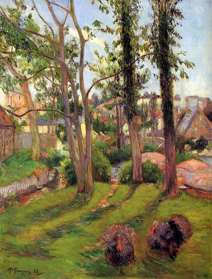 Turkeys, Pont-Aven, 1888, Paul Gauguin