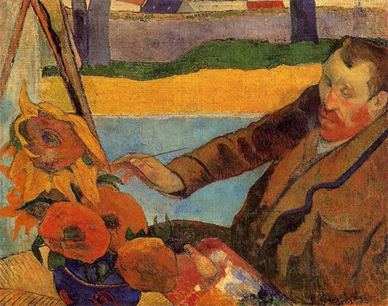 Van Gogh Painting Sunflowers, 1888, Paul Gauguin