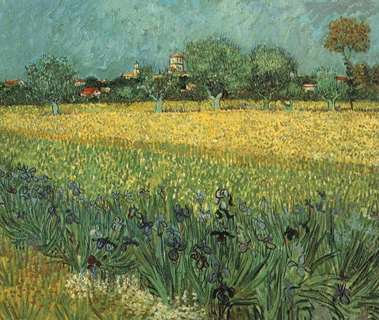 View of Arles with Irises by van Gogh