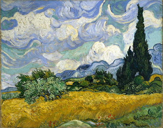Wheat Field with Cypresses, 1889, Vincent van Gogh