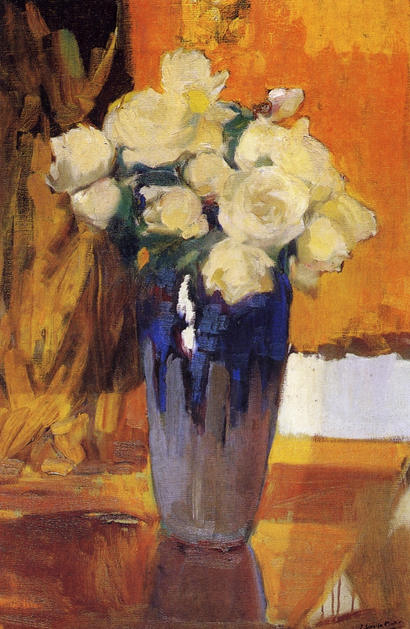 White Roses from the House Garden, 1919, Joaquin Sorolla