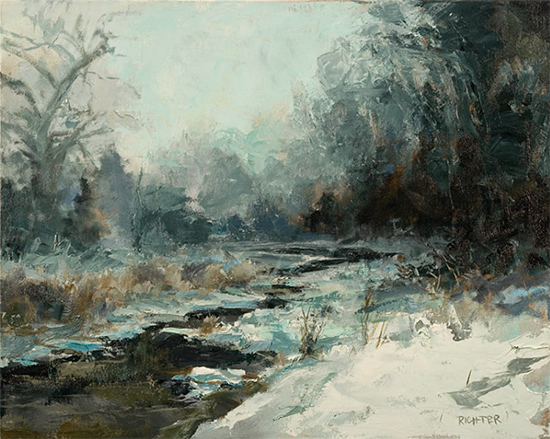 "Winter Stream, 16 x 20"", Oil, © Matthew Richter"