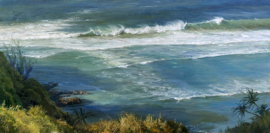 Oil Painting of Ocean by Mary Pettis