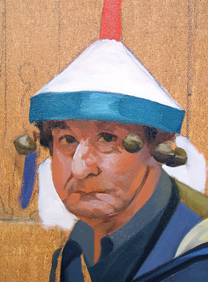 oil painting portrait of a street musician in Venice © J. Hulsey