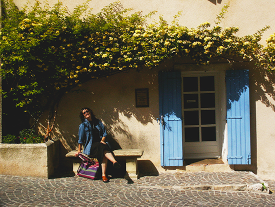 photo of Ann Trusty in France. © J. Hulsey