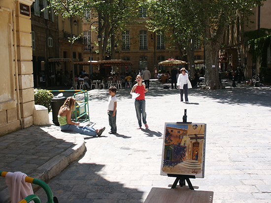 photo of plein air painting in Aix, France. © J. Hulsey
