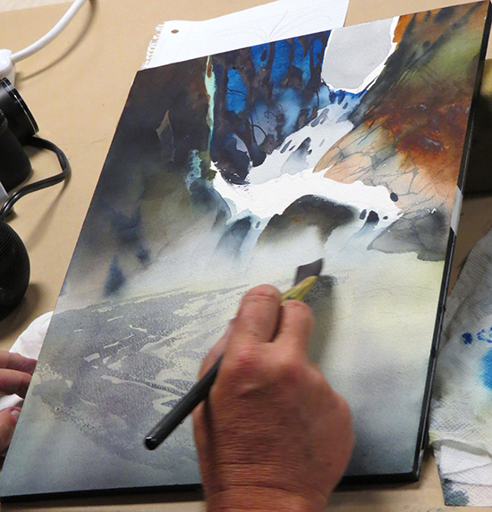 David Rankin Paints a Waterfall in Watercolor