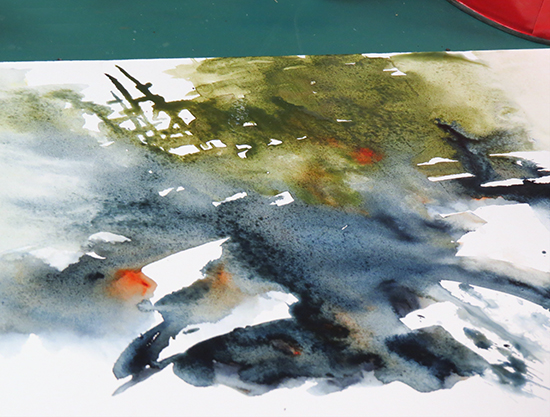 Mort Solber's Mysterious Start to Watercolor Quick Draw