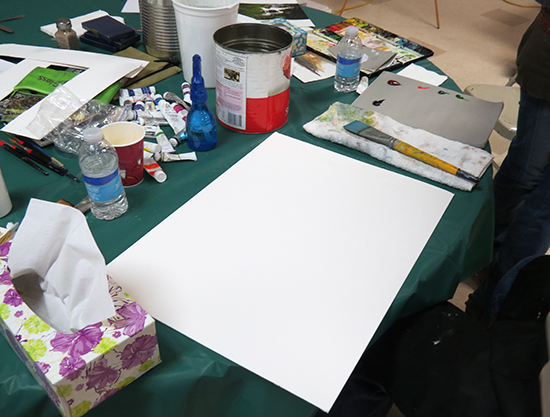 Mort Solberg's Watercolor Setup