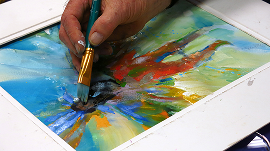 photo of Mort Solberg painting. photo©A. Trusty