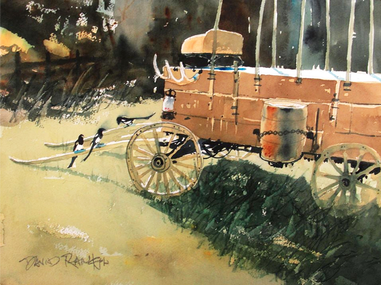 photo of watercolor by David Rankin