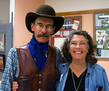 Photograph of John Finley with Ann Trusty