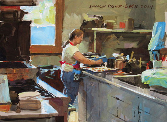 photo of James Gurney painting. ©A.Trusty