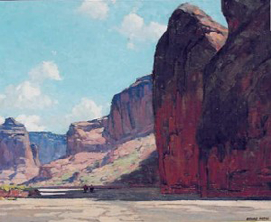 oil painting of Canyon de Chelly by Edgar Alwin Payne