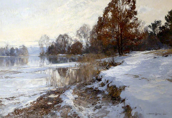 oil painting of river by Edward Harrison Compton