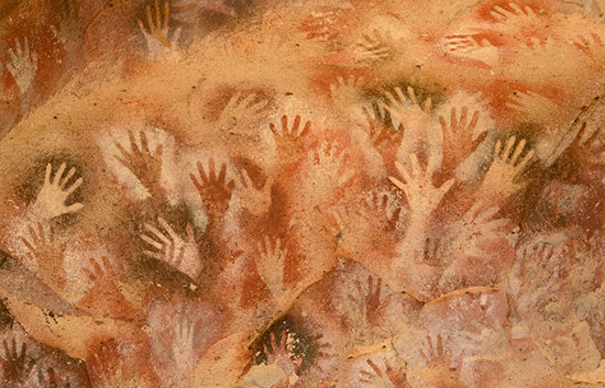 Lascaux Cave Painting of Hand Prints