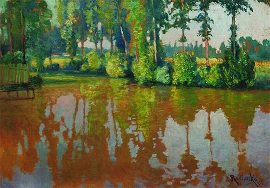 Arm of the River, Reflections, ca. 1925, Vaclav Radimsky