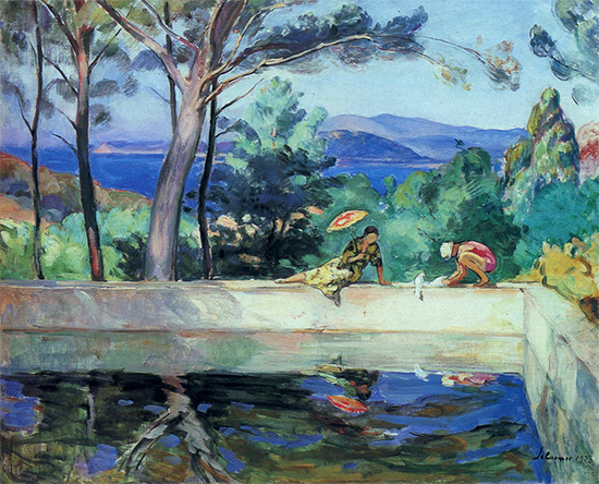 Blue Reflection in the Fountain at Pradet, ca. 1917, Henri Lebasque