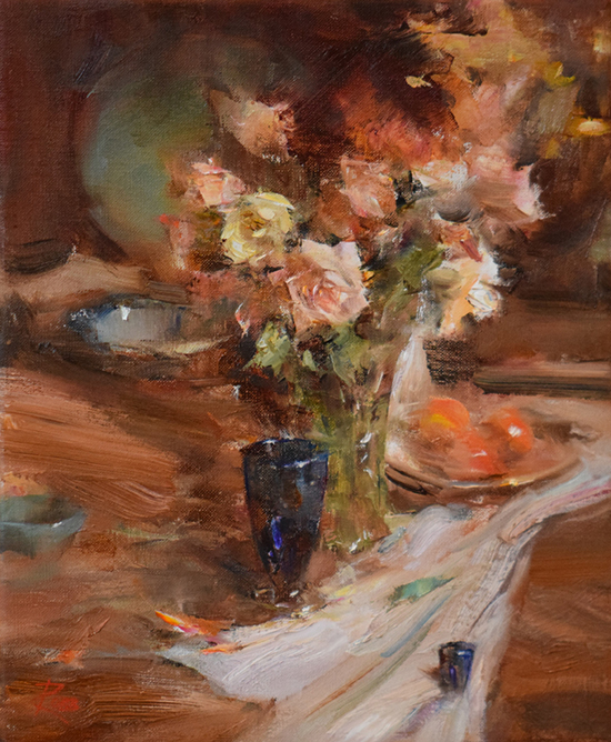Floral Still Life Oil Painting © Laura Robb