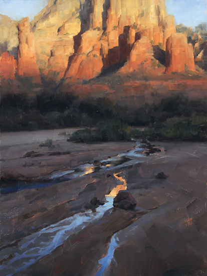 "Sedona Light, 32 x 24"", Oil, © David Santillanes"
