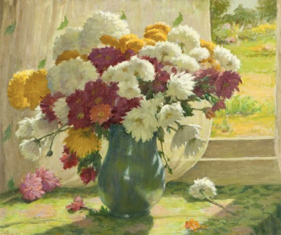 Still Life with Chrysanthemums, Joseph Henry Sharp