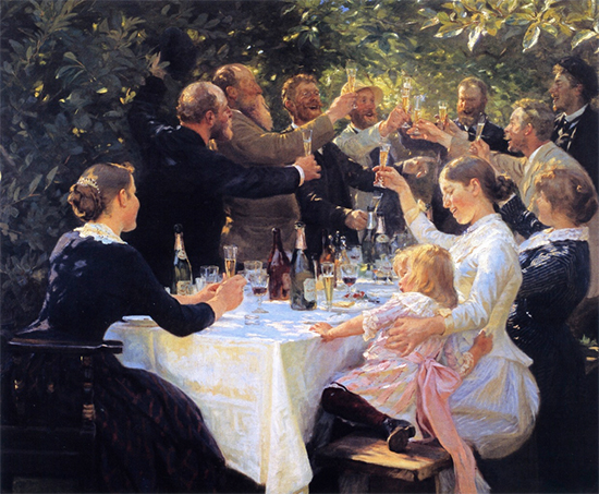 Hip Hip Hurra, 1888, P. S. Kroyer