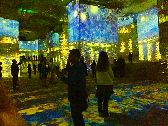Photo of Les Carrieres de Lumieres at Les Baux. © J. Hulsey
