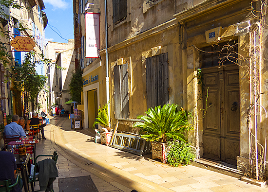 Street in old St. Remy, France