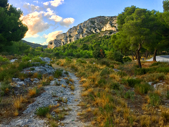 photo of Les Alpilles near Les Baux, France.© J. Hulsey