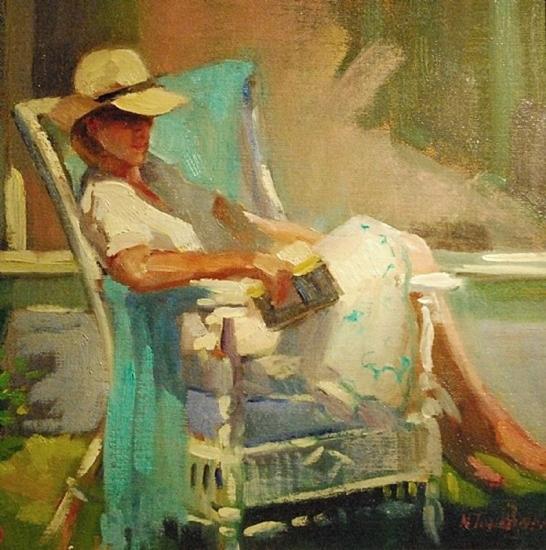 """Tilghman Afternoon, 12 x 12"""", Oil, © Nancy Tankersley"""
