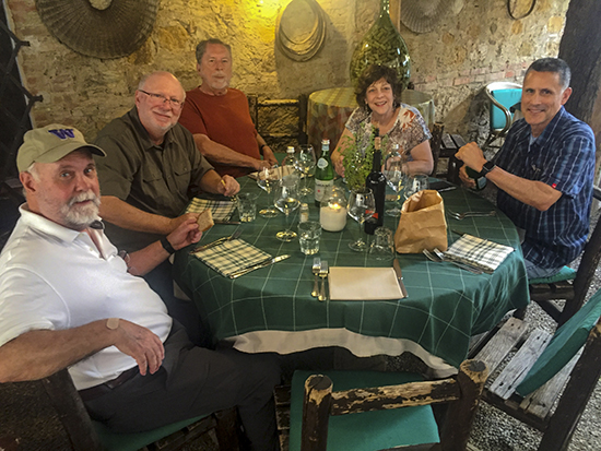 Photograph of Dinner in San Quirico d'Orcia
