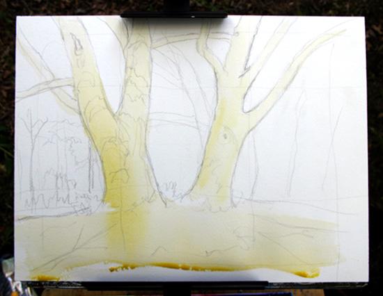 Watercolor Painting in Progress 2