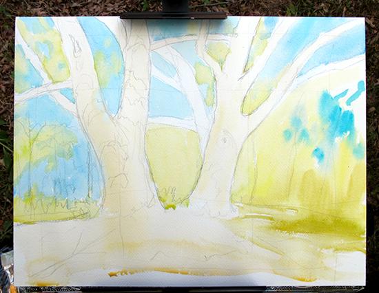 Watercolor Painting in Progress 3