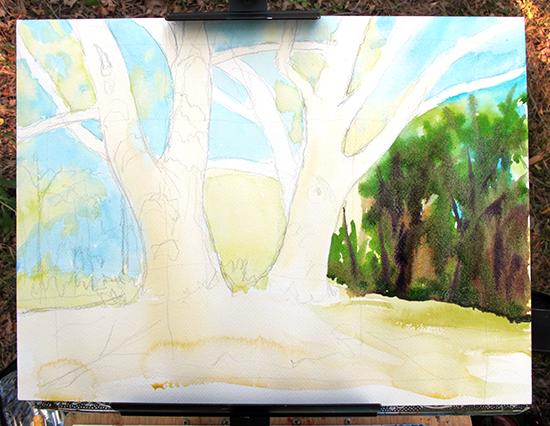 Watercolor Painting in Progress 4