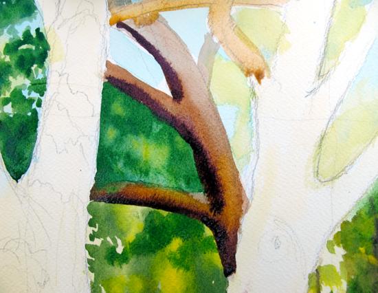 Watercolor Painting in Progress 5