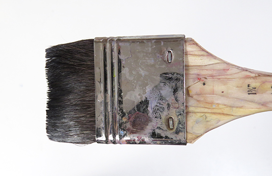 Photo of flat squirrel hair brush