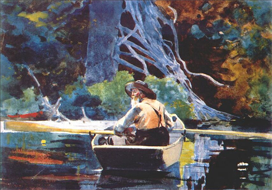 The Adirondack Guide, Winslow Homer, Watercolor, 1894