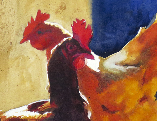 Detail of Afternoon Glow watercolor by John Hulsey