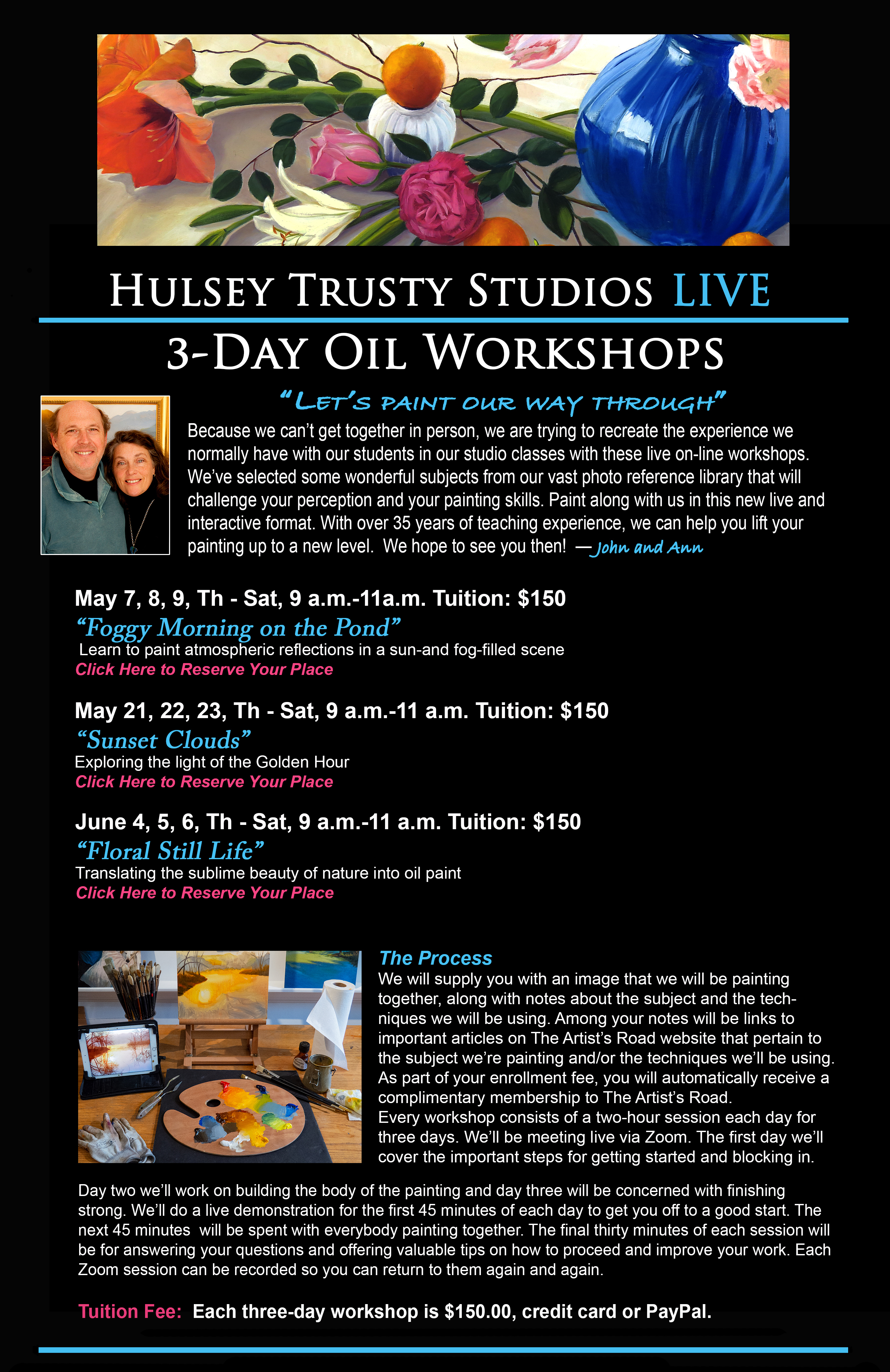 Live Oil Painting Workshops