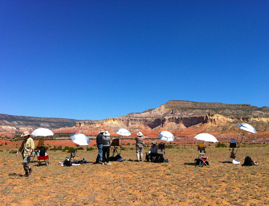 Workshop Students Painting near Abiquiu, NM